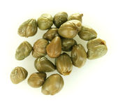 Green capers isolated on white background — Stock Photo