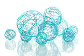 Beautiful decorative balls, isolated on white — Stock Photo