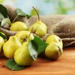 Juicy flavorful pears of nature background — Stock Photo #12404705