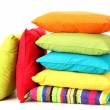 Colorful pillows isolated on white — Stock Photo #12404861