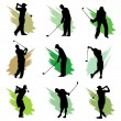 Golf silhouette design - Stock Vector