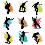Skateboarding silhouette — Stock Vector #10851439