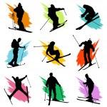 Ski silhouette — Stock Vector #10851503