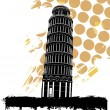 Stock Vector: Pisa tower