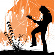 Guitarist silhouette — Stock Vector