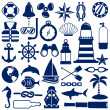 Nautical icons — Stock Vector