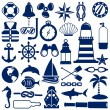 Nautical icons — Stock Vector #10852841