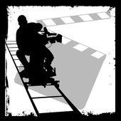 Cameraman silhouette — Stock Vector