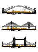 Bridge set — Stock Vector