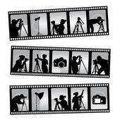 Photography filmstrip — Stock Vector