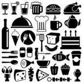 Icônes de nourriture — Vecteur
