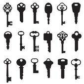 Zestaw kluczy — Wektor stockowy