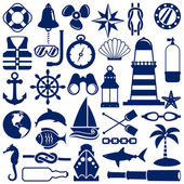 Nautical icons — Stockvector