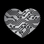 技术的爱 — 图库矢量图片