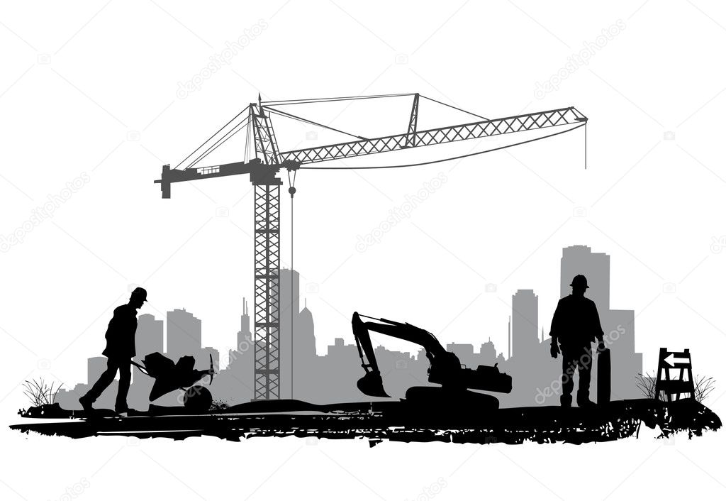 Construction si... Construction Sign Silhouette