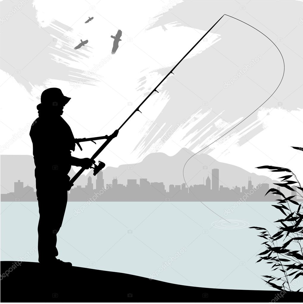 Fishing hook silhouette