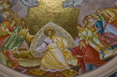 Presco in Capernaum church — Stock Photo