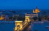 Le pont des chaînes à budapest — Photo