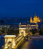 The Chain bridge in Budapest — Stock Photo