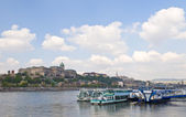 Budapest riverboat — Stock Photo