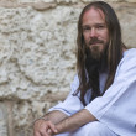 Christian pilgrim — Stock Photo