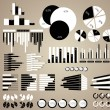 Stock Vector: Black and white charts and infographics