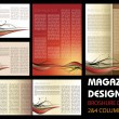 Magazine layout design — Stock Vector
