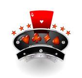 Gaming rustic emblem — Stock Vector