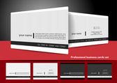 Conjunto de tarjetas profesionales — Vector de stock