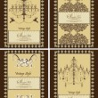 Royalty-Free Stock Vector Image: SET OF FOUR VINTAGE BROWN CARDS