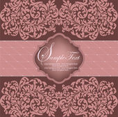 Projeto romântico vintage cartão — Vetorial Stock
