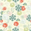 Retro floral seamless background,pattern - Stok Vektör