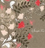 Vector floral background with place for your text — Vettoriale Stock