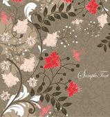 あなたのテキストのための場所を持つベクトル花の背景 — ストックベクタ