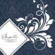 Vector floral background with place for your text - Grafika wektorowa