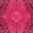 Red damask invitation card - Stockvectorbeeld