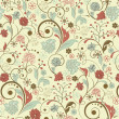 Floral seamless pattern, vector design - Stockvectorbeeld