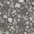 Floral seamless pattern, vector design - 