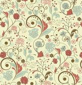 Floral seamless pattern, vector design — Stock Vector