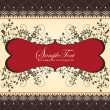 Invitation card on floral background - Stock vektor