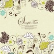 Vintage floral background — Stockvektor