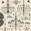 Set of ornate vector ornaments — Imagen vectorial
