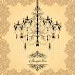 Stock vektor: Chandelier Wedding Invitation