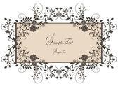 Quadro vintage floral — Vetorial Stock