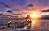 Sunset in the paradise — Stock Photo