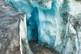 Glacier ice cave — Stock Photo