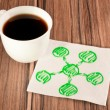 Stock Photo: Diagram on napkin