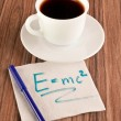 Formula on a napkin — Stock Photo