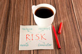 Risk on a napkin — Stock Photo