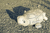 Homemade old tortoise — Stock Photo